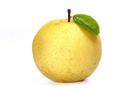 Enkele verse appel die op een witte achtergrond Stockfoto