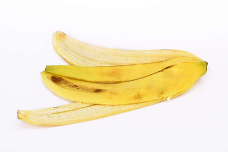 banana skin: Banana skin isolated on white background