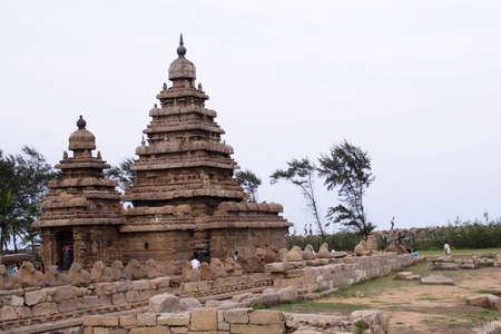 mamallapuram: Seashore Temple,UNESCO heritage site,Mamallapuram,India