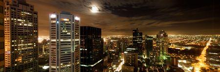 Night skyline of Melbourne Citry panorama