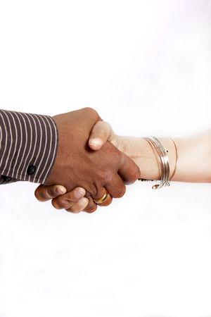 HAND SHAKE MALE AND FEMALE