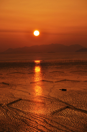 sunrise on the sea of ??Xiapu country photo