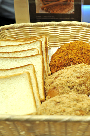 sliced ??bread and dried meat floss bread photo