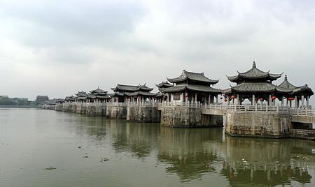chinese ancient bridge 免版税图像
