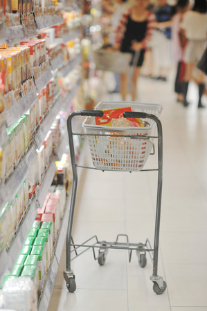 shoppings: cart in the supermarket