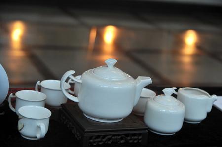 Porcelain tea set photo