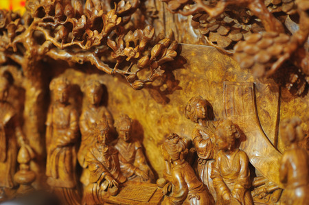 portraiture: chinese wooden carving