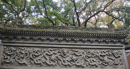 chinese nine dragon wall