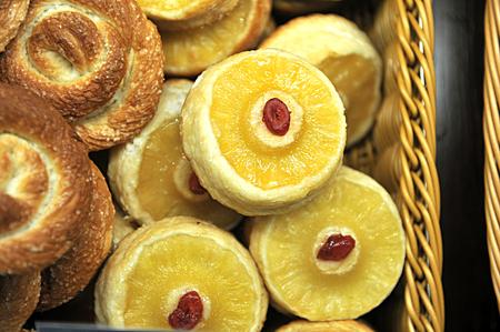 chinese wolfberry: Chinese wolfberry and lemon dessert Stock Photo