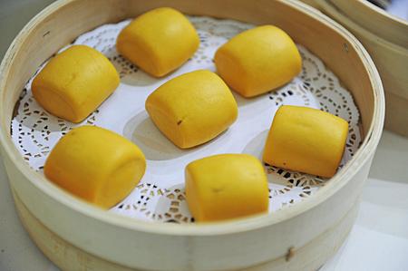 chinese steamed corn bun photo