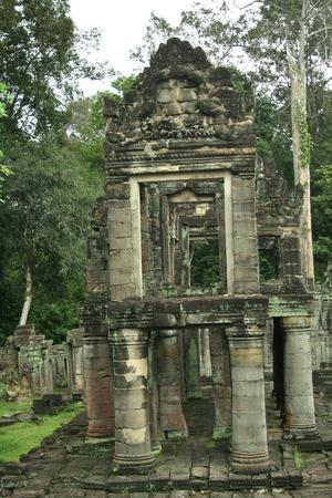 khan: cambodia Preah Khan Ruins Stock Photo