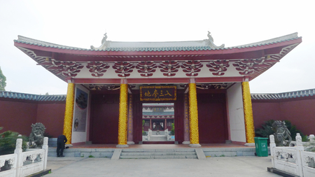 Chinese temple landscape view