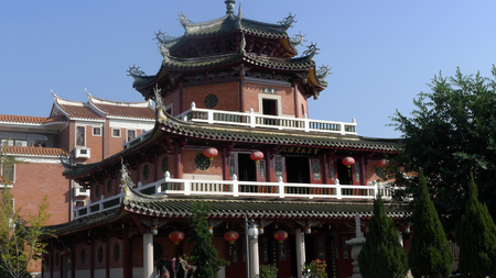 Exterior of a Chinese temple 新闻类图片