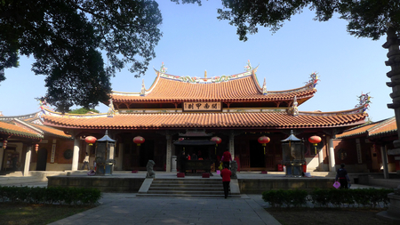 Exterior landscape view of a Chinese temple 新闻类图片