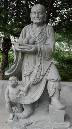 Quanzhou Chongwu ancient city of Maitreya stone carving Editorial
