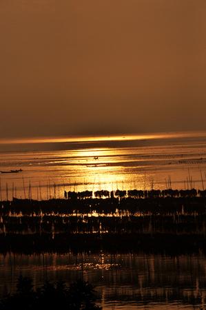 seawater: Sunrise in Xiapu Stock Photo