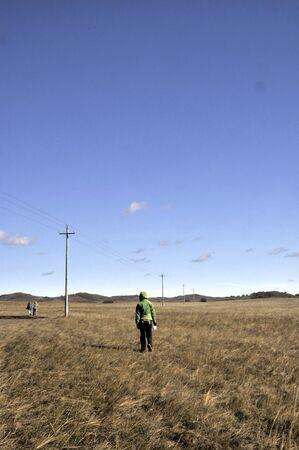 People on a grassland