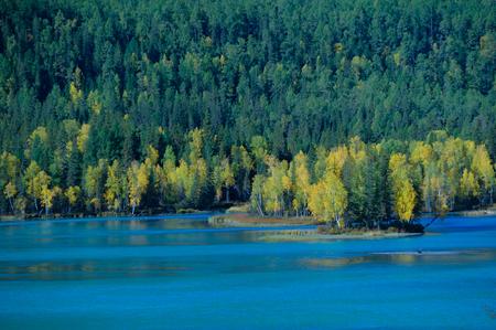 gully: Kanas Lake, xinjiang Stock Photo