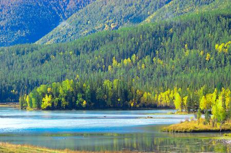 Kanas Lake nature landscape scenery view