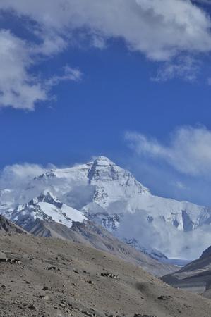 View of snow mountains