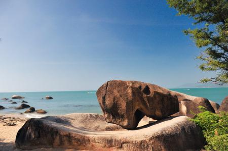 Nature scenery landscape view of Sanya sea