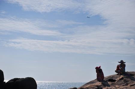 Nature landscape scenery view of Sanya sea