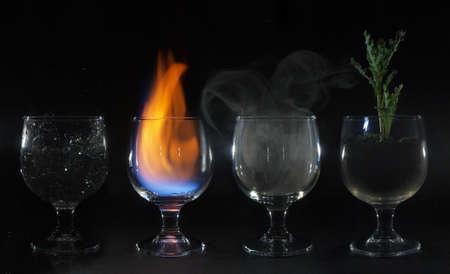 4 elements Reklamní fotografie - 48519732