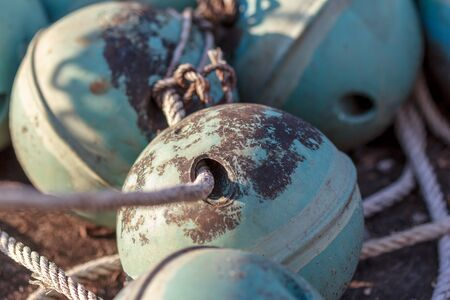 floaters: Closeup Buoy ball Stock Photo