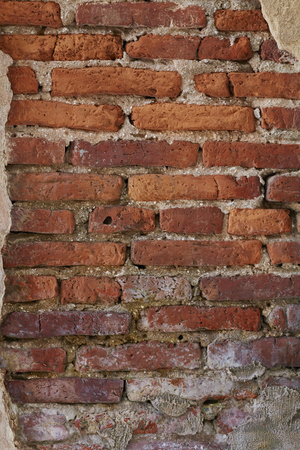 red brick wall: Red brick wall background. Stock Photo