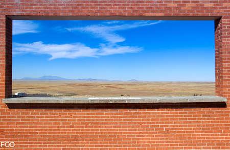 Window at Meteor Crater Stock fotó