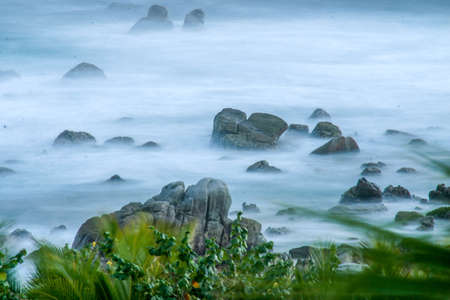 Misty waters Cabo Stock Photo