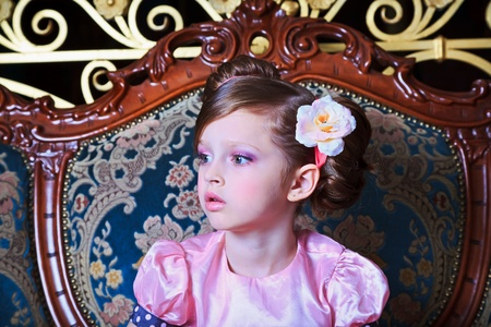 Portrait of girl in pink, close-up Stock Photo - 13218818