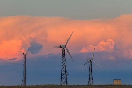 alternative energy sources: The use of alternative energy sources in areas remote from civilization Stock Photo