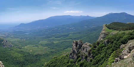 spectre: Crimea. Beautiful view from the mountain Demerdzhi Valley of ghosts