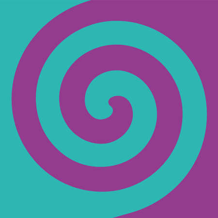 Soft abstract spiral background in 2 colors : Teal and Purple.
