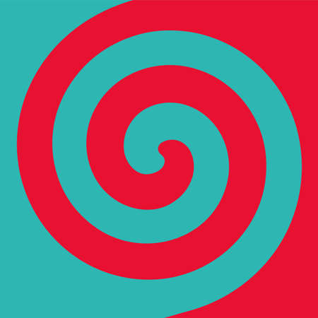 Soft abstract spiral background in 2 colors : Teal and Red. 向量圖像