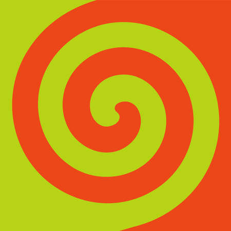 Soft abstract spiral background in 2 colors : Light green and Orange. 向量圖像