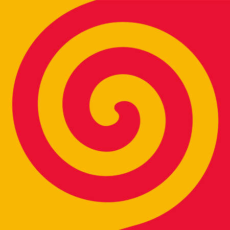 Soft abstract spiral background in 2 colors : Yellow and Red. 向量圖像