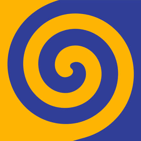 Soft abstract spiral background in 2 colors : Yellow and Blue.