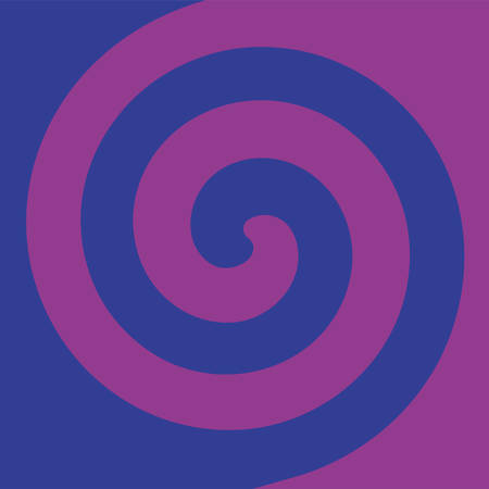 Soft abstract spiral background in 2 colors : Blue and Purple.