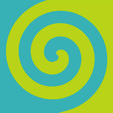 Soft abstract spiral background in 2 colors : Light green and Teal.