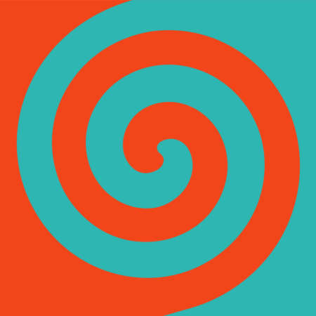 Soft abstract spiral background in 2 colors : Orange and Teal.