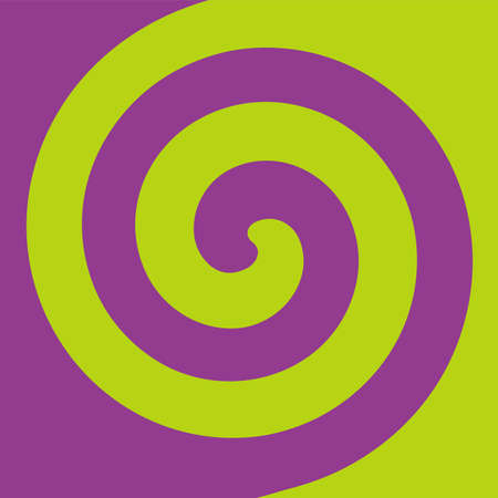 Soft abstract spiral background in 2 colors : Purple and Light green. Vectores