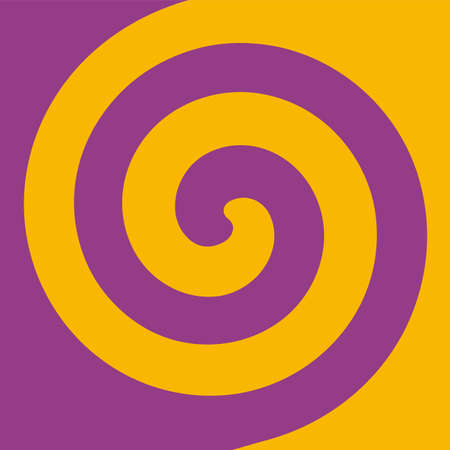 Soft abstract spiral background in 2 colors : Purple and yellow. 向量圖像
