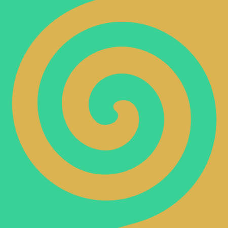 Soft abstract spiral background in Caramel apple themed : Mint Green and caramel yellow