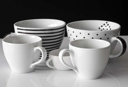 Monochrome modern cups photo