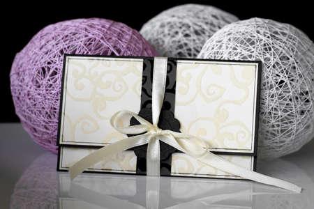 moderation: Scrapbooking - wishing card with ribbon