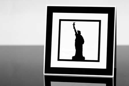 Frame with Statue of Liberty photo