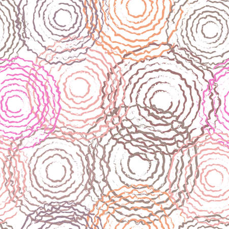tree rings: Colored tree rings. Drawing circle. Seamless pattern