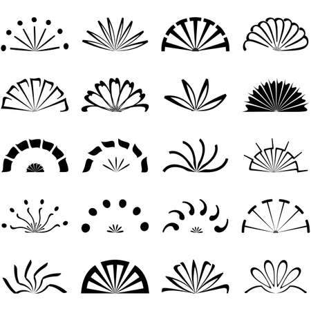 propellers: Set of fans and propellers icons , isolated vector object